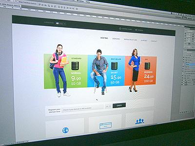 Hosting website homepage