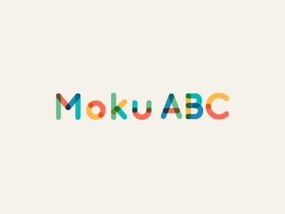 Moku ABC Logo learning education kids alphabet colorful colors logo design abc playful