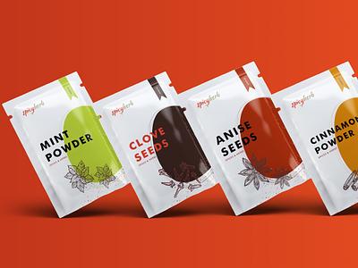 Spicy Herb Brand Identity ui branding design branding brand identity app typography design creativedays brandidentity brand design