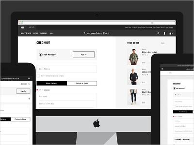 Abercrombie & Fitch Checkout conversion retail responsive web ui ux abercrombie checkout ecommerce