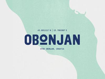 Obonjan festival music wordmark type croatia island logo branding