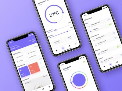 Weekly UI Challenge #4 - Smart Home Mobile App
