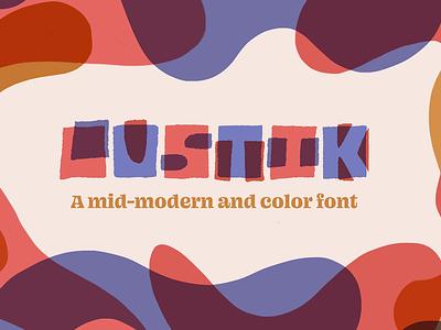 Lustik, a mid century modern color font mid century modern color font font design font