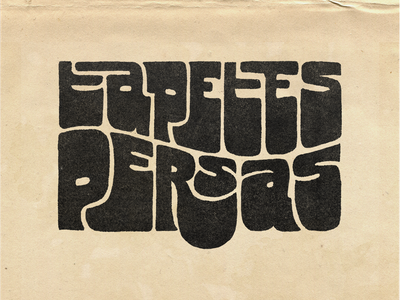 Tapetes Persas Logo brazil 50s 60s rock band music rock letters lettering typography type funky logo