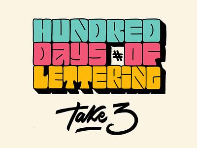 100 days of Lettering hand-lettering letters type 70s challenge instagram lettering