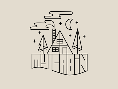 My cabin nature outdoor typography lettering vectors illustration