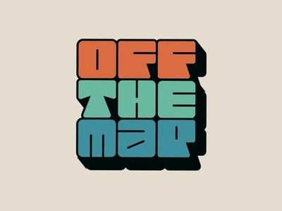 Off the map vanlife illustration logo typography hand-lettering lettering letters