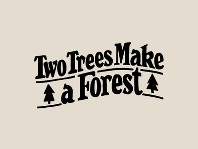 Two trees make a forest procreate ipadpro drawing logo typography type hand-lettering lettering letter