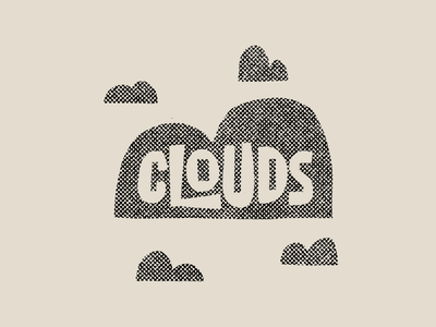 Clouds illustration drawing letters typography type hand-lettering lettering truegrittexturesupply procreate midcenturymodern midcentury