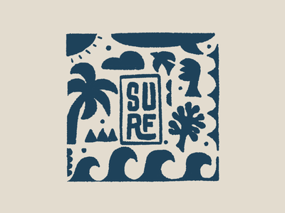 Surf retro style letters illustration retro poster logo typography type hand-lettering drawing lettering surfing surf