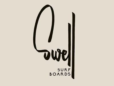 Swell take 1 surf swell brush lettering letters logo typography type hand-lettering lettering