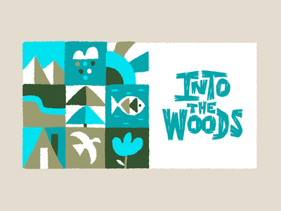 Into the woods - illustration ipadpro procreate woods nature forest illustration letters logo typography type hand-lettering lettering