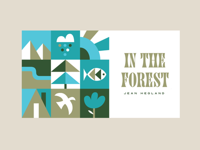 In the forest ipadpro vector letters logo typography type book cover book outdoor font illustration forest