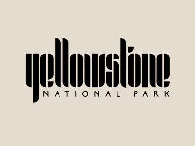 Yellowstone National Park illustrator vector procreate hand lettering drawing letters logo typography type hand-lettering lettering