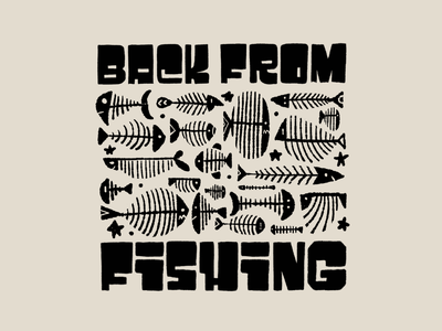 Back from fishing!! ipadpro procreate hand lettering illustration drawing letters typography type hand-lettering lettering fish fishing