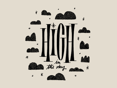 High in the sky ipadpro procreate hand lettering illustration drawing letters logo typography type hand-lettering lettering