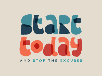 Start today! ipadpro procreate hand lettering illustration drawing letters logo typography type hand-lettering lettering