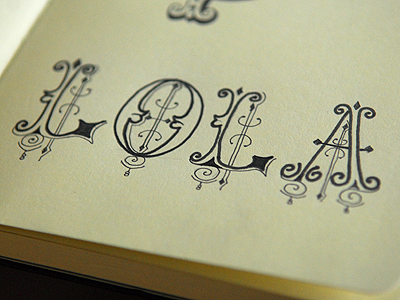 Lola lettering dribbble