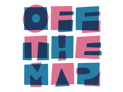Off the Map color-font colors letters lettering mid-modern