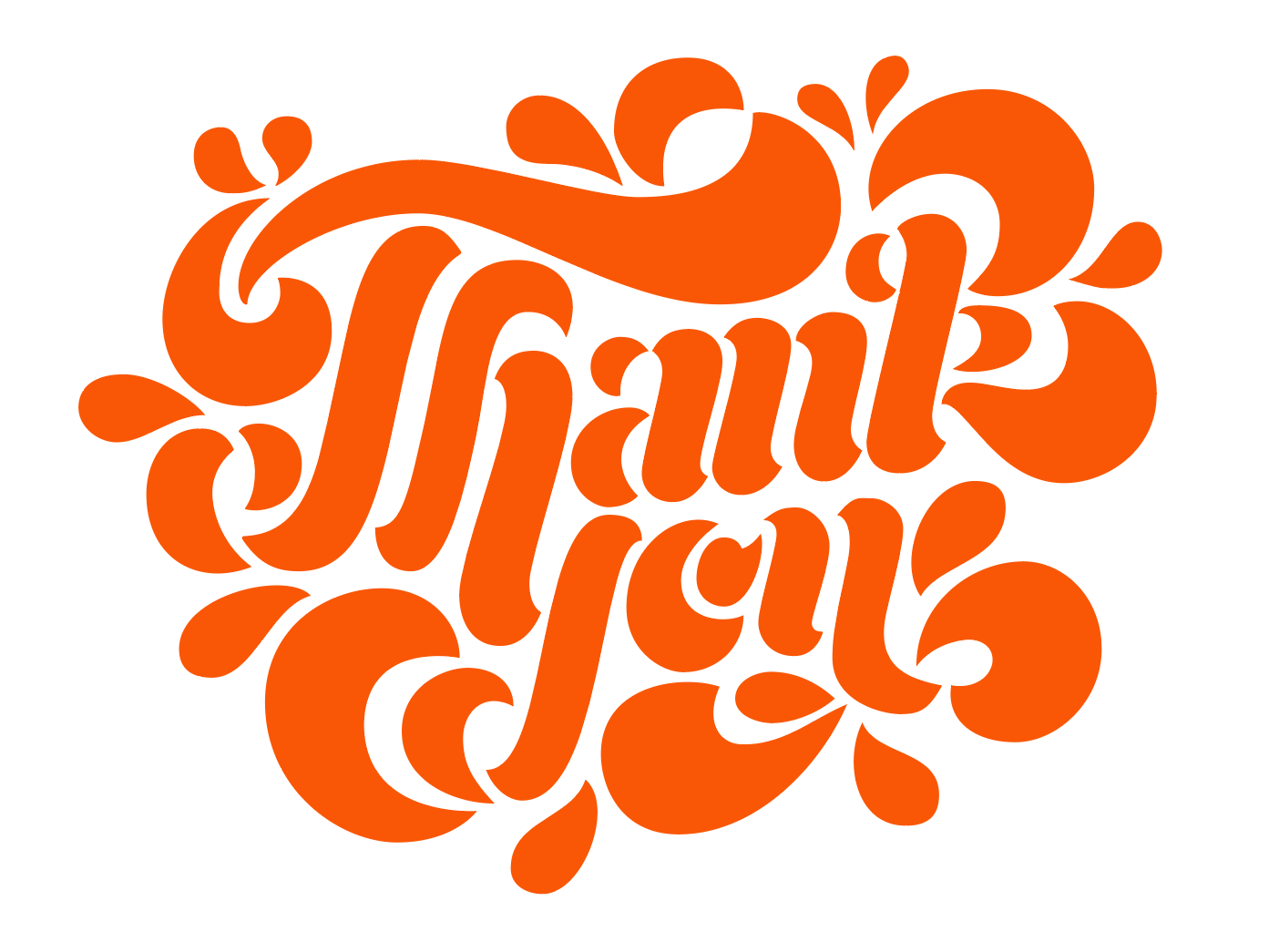 Thank You Card letters type logo typography hand-lettering lettering