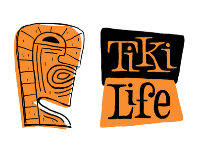 Tiki Life tiki-art tiki illustration typography type letters lettering hand-lettering