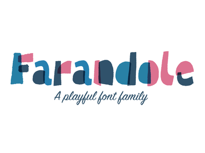 Farandole Font Family fontself color-font funky fun mid-modern playful typography type font