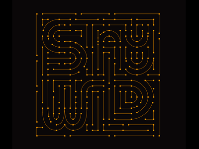 Stay Wild anchor points stars. letters hand-lettering lettering anchors vectors