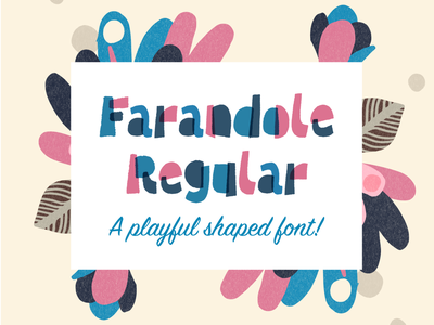 Farandole Color Font Family birthday fun playful typo type letters font