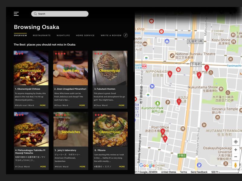 Local Business Finder Agate Design Reviews Restaurants Map Web