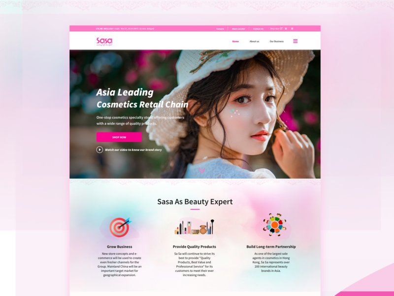 Web Design - Cosmetic site branding ux web ui design