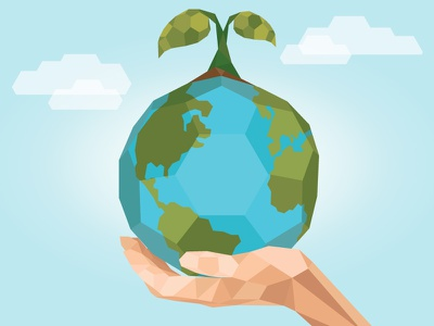Earth Day earth flat illustration graphic design low poly