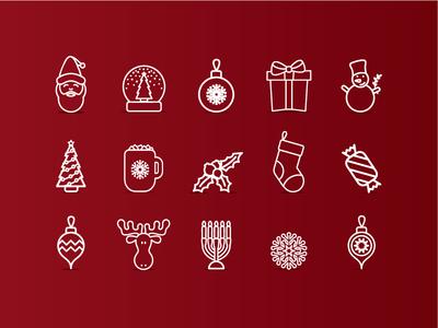 Christmas Icons - Minimal Version