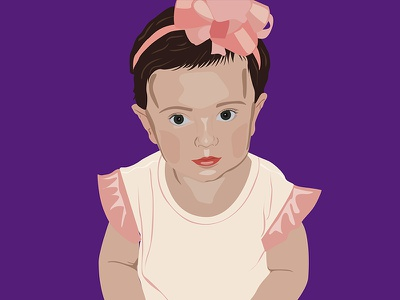 Cartoon Child flat color illustration color block illustrator cartoon