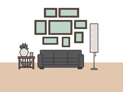 Living Room Illustration icons illustrator cartoon illustration