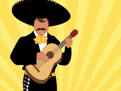 Mariachi Man icon character cartoon illustration