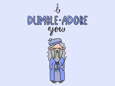 Dumble-adorable dumbledore procreate cartoon drawing illustration
