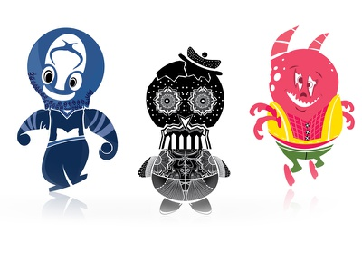 Monster Characters just for fun illustration characters monster