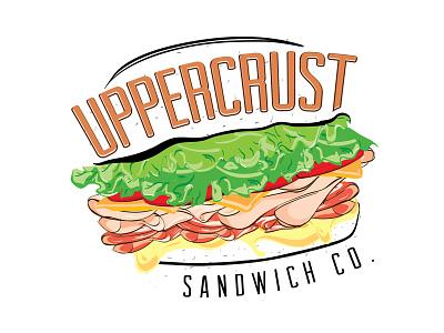 Uppercrust Sandwich Co. Logo got so hungry working on this yummy branding identity logo sandwiches