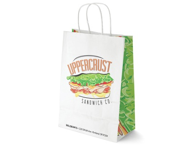 Uppercrust Sandwich Co. Go Bag and packing got so hungry working on this yummy branding identity logo sandwiches