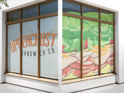 Uppercrust Sandwich Co Storefront Design Proposal store front environment got so hungry working on this yummy branding identity logo sandwiches