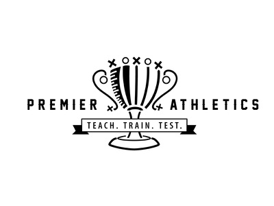 Premier Athletics Logo Proposal design logo success victory elite champion sport athletics test train teach