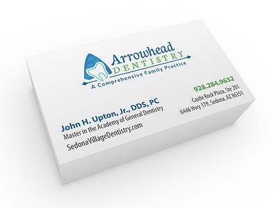Arrowhead Dentistry Identity identity brand mockup custom design logo business card