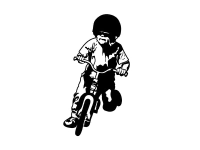 Kian's Third Birthday Poster / Bike Sketch poster kians third birthday pistons  piñatas illustration vintage