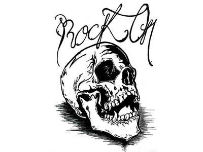 Inktober Day 8 / Rock