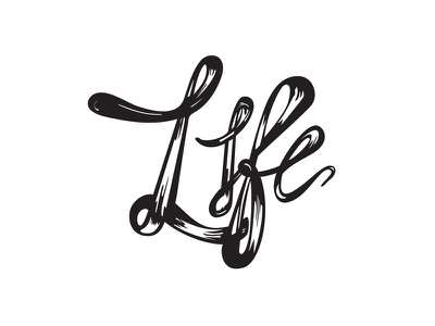 Life Typography work in progress wip poster art typography life lettering