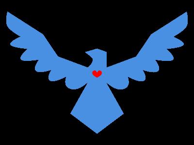 Patriotic eagle symbol logo eagle america usa