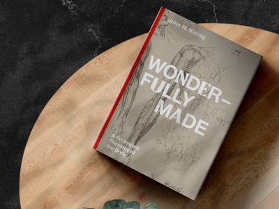 Wonderfully Made by John W. Kleinig —Cover body christ mixed sketches wonderfully made christian book theology human body leonardo da vinci spread cover book
