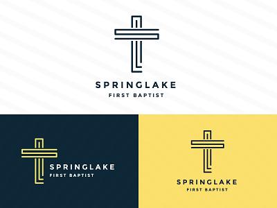 SpringLake Cross minsitry baptist springlake brand mark logo church crosss