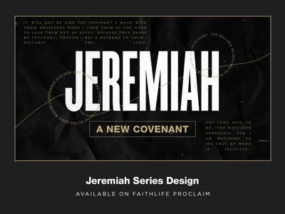 JEREMIAH - a new covenant