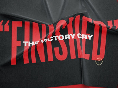 FINISHED cloth wrinkle merch music worship modern getty hymn easter black cry victory tapestry banner flag minsitry jesus christ cross power